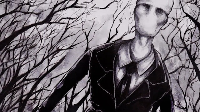 Drawing of slenderman Slender Man Efsanesi   Slender Man Nedir?