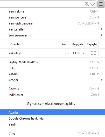 chrome-ayarlar